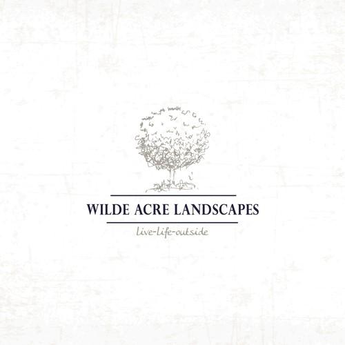 Organic logo for women owned landsvaping company