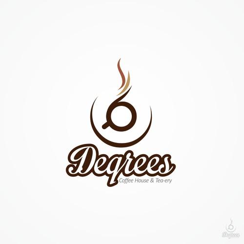 Organic Artful logo for- 6 Degrees Coffee House & Tea-ery