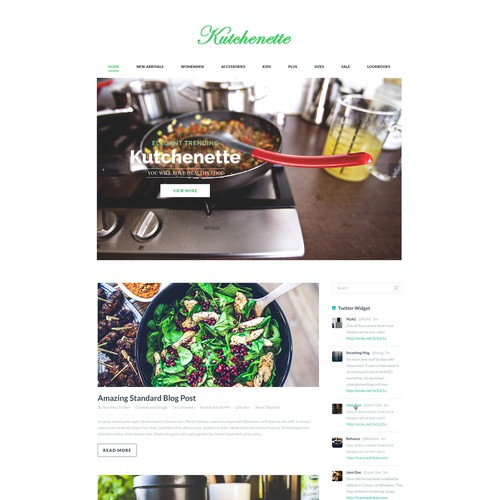Kuchenette home page web design