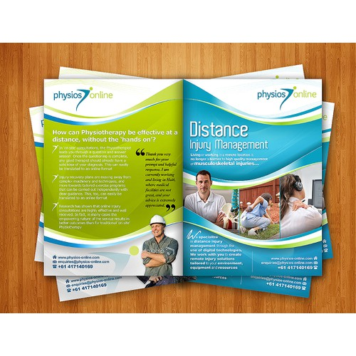 Physios Online needs a new brochure design