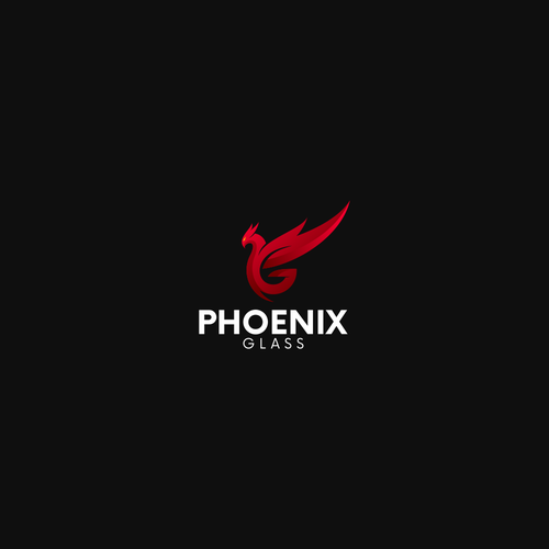 Phoenix Glass logo design