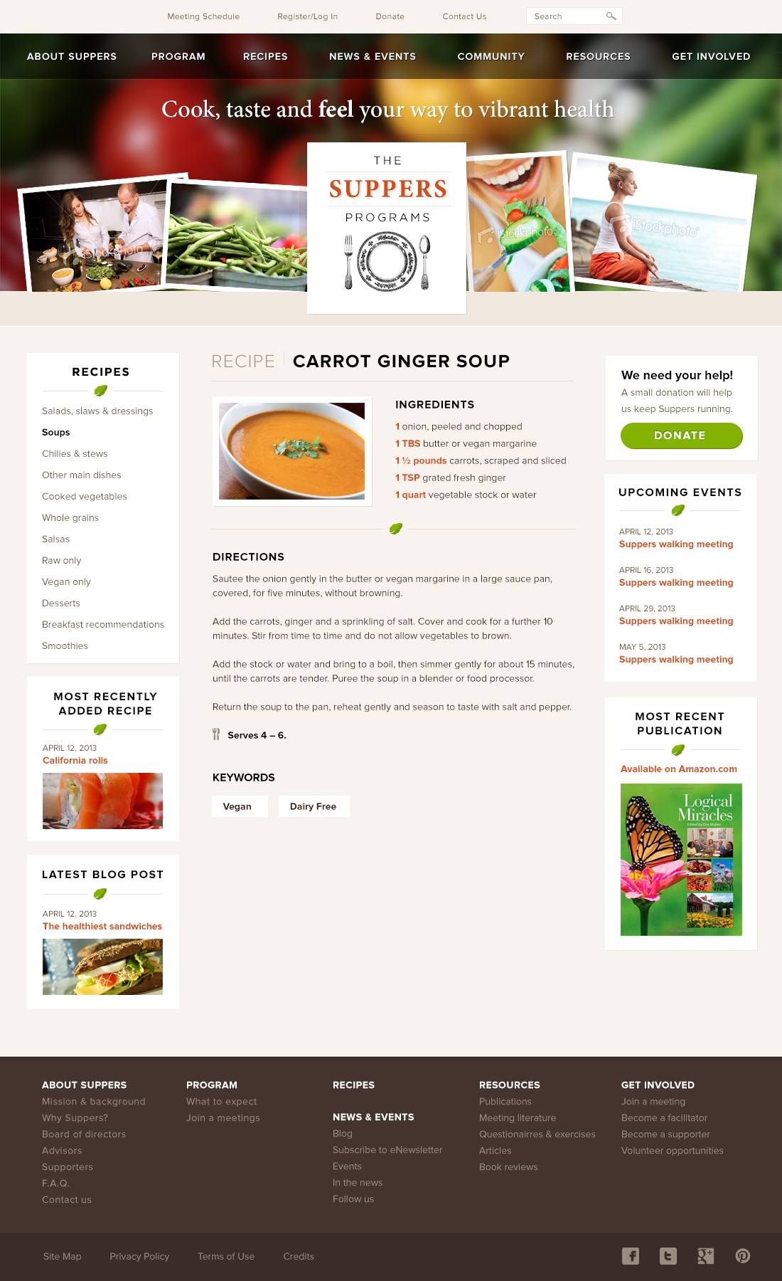 The Suppers Programs needs a new website design