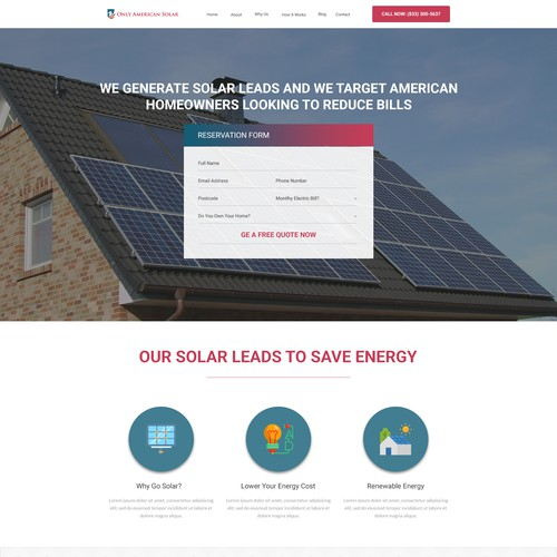 Only American Solar Site Redesign