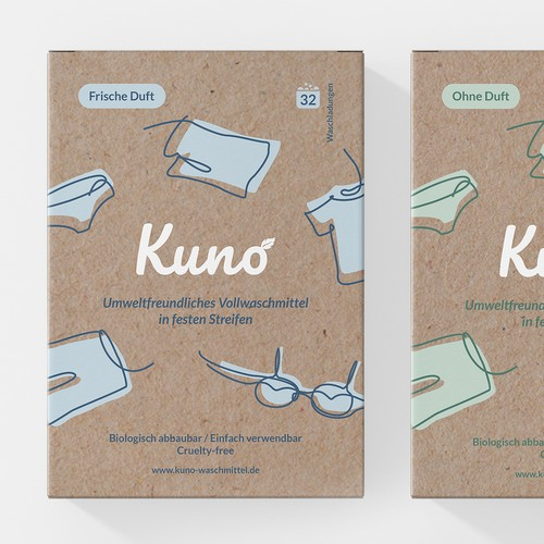 Packaging and logo design for Kuno