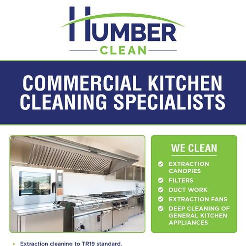 Flyer design for Humber Clean