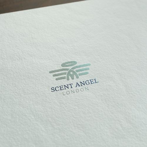 Minimal, modern Angel logo