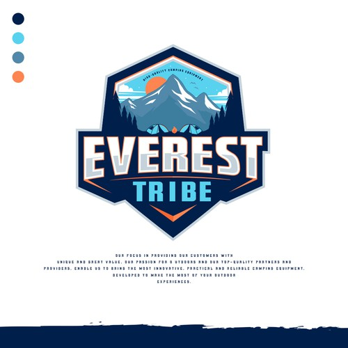 "Design Logo & Brand Guide for Camping Brand ""EVEREST TRIBE"""