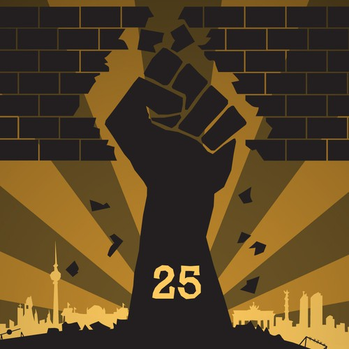 99designs Community Contest: 25 Jahre Mauerfall - Plakat zurWiedervereinigung