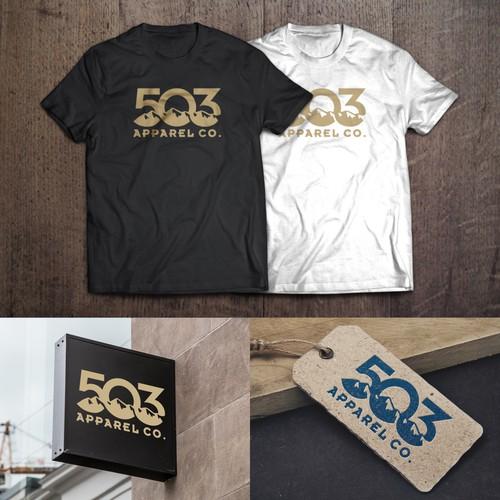 Logo Design for 503 Apparel Co.