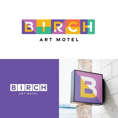 Birch Art Motel Logo Concept