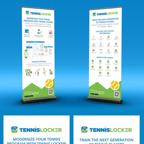 Retractable Banner for Mobile App Tradeshow