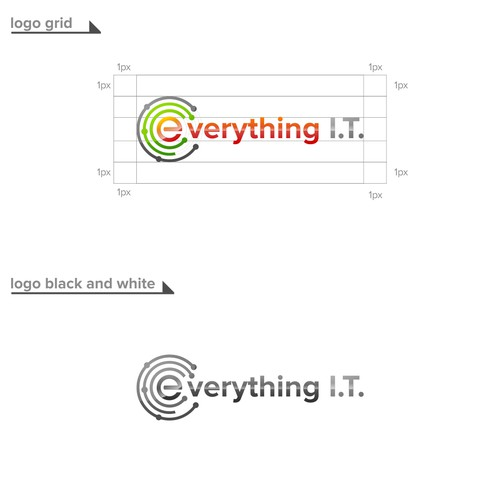 logo concept for everithing IT
