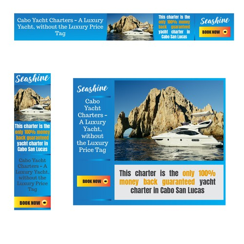 Yacht Charter - Retargeting Banner Ads.