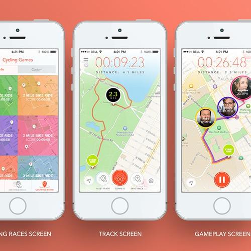 SpeedPRO MMO racing app App UI Redesign