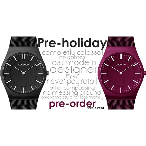 Pre-holiday pre-order sales event