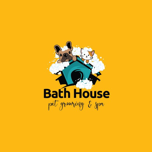 Pet bath logo