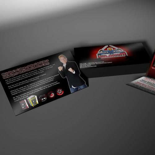 Create a descriptive 4 sided card about my NinjaGym® programs
