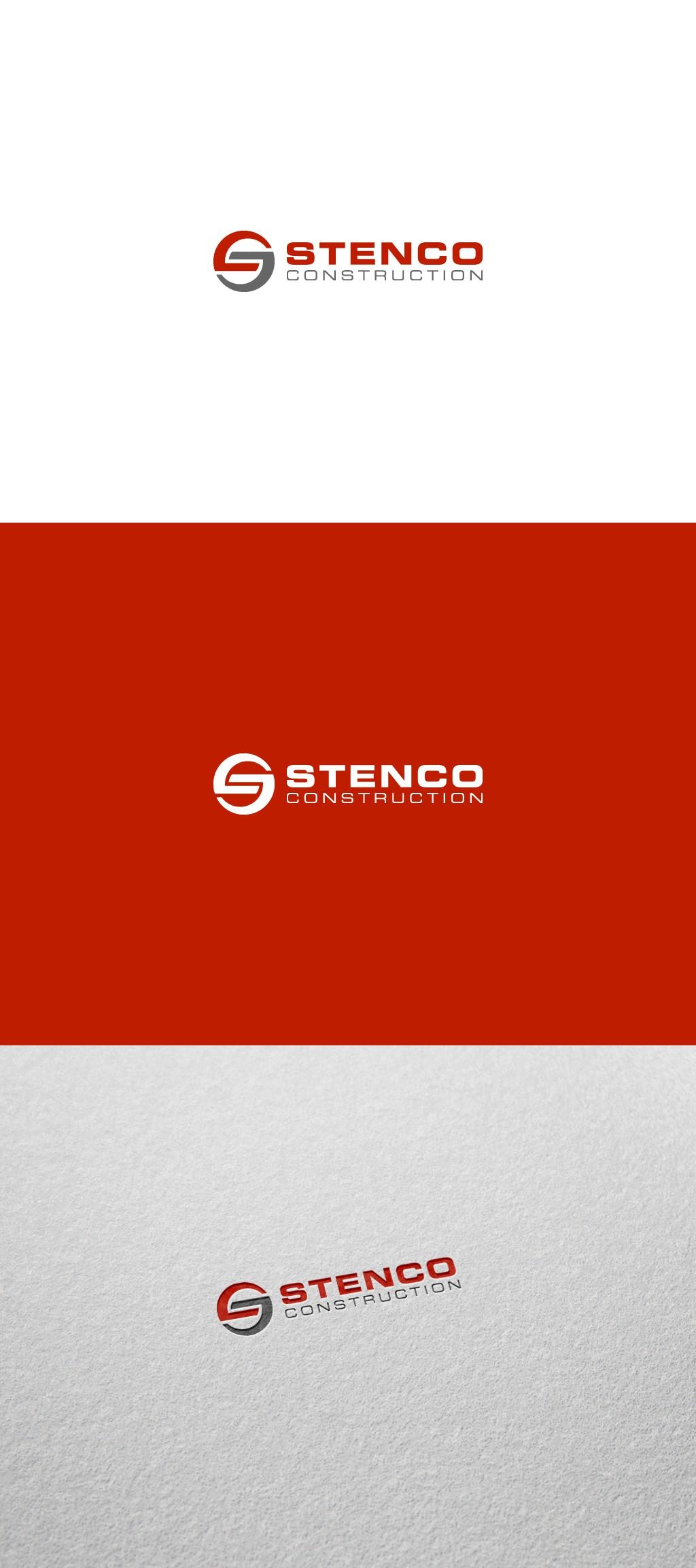 Create a fresh clean logo for Stenco Construction