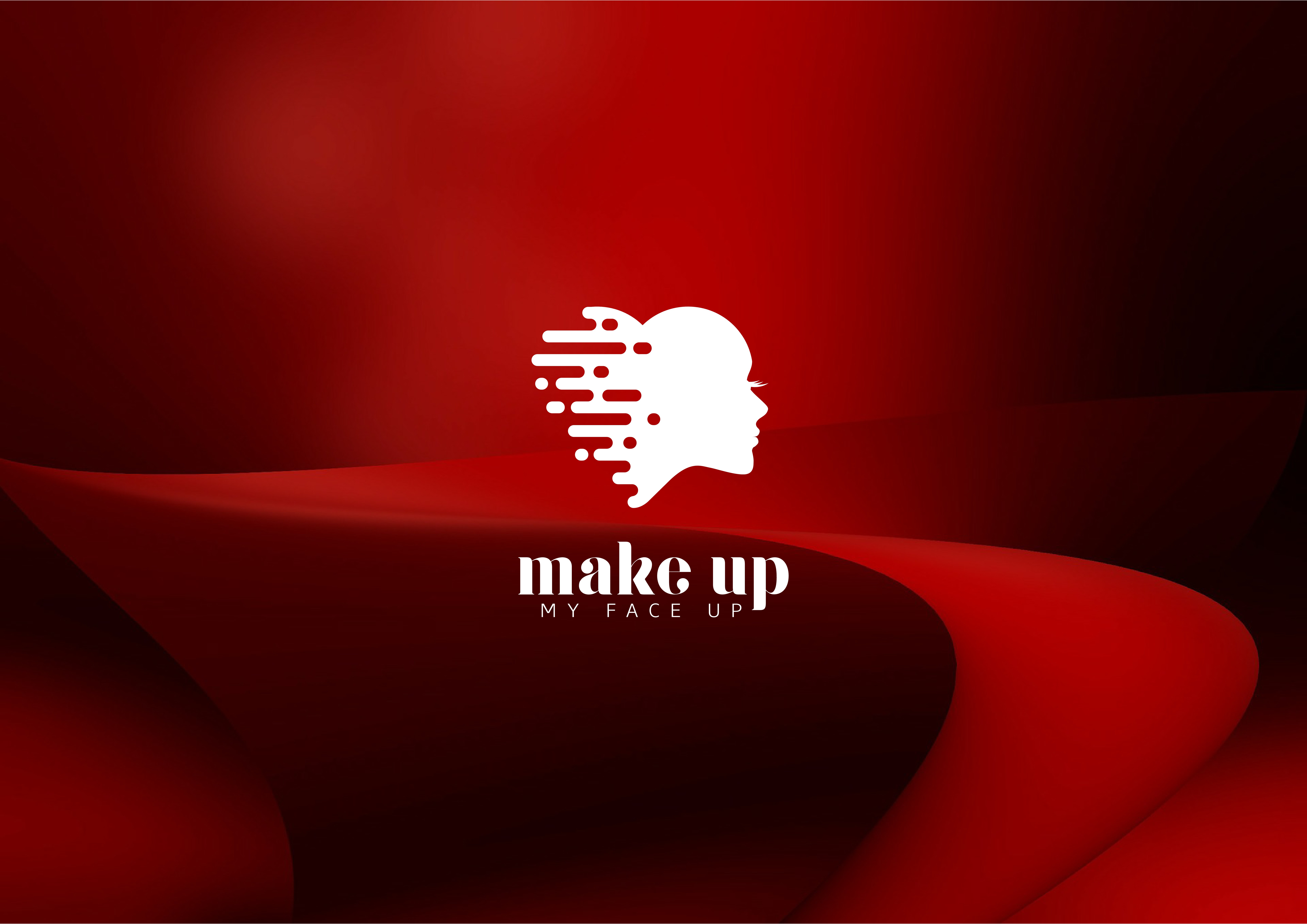 Create a chic makeup loving design for Make Up My Face Up
