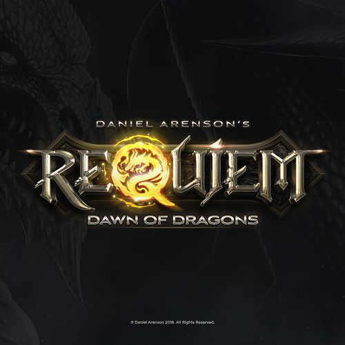 Requiem Down of Dragons Book Logo