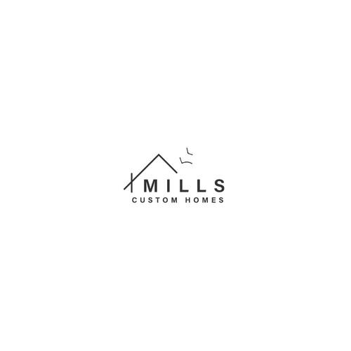 Minimalist real estate logo mark