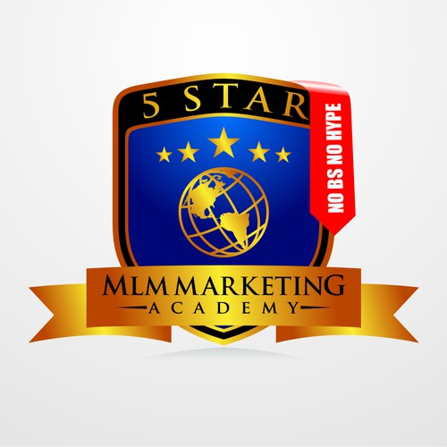 Create the next logo for 5 Star MLM Marketing Academy