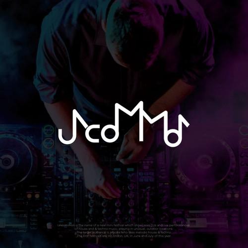 Modern logo for techno music festival