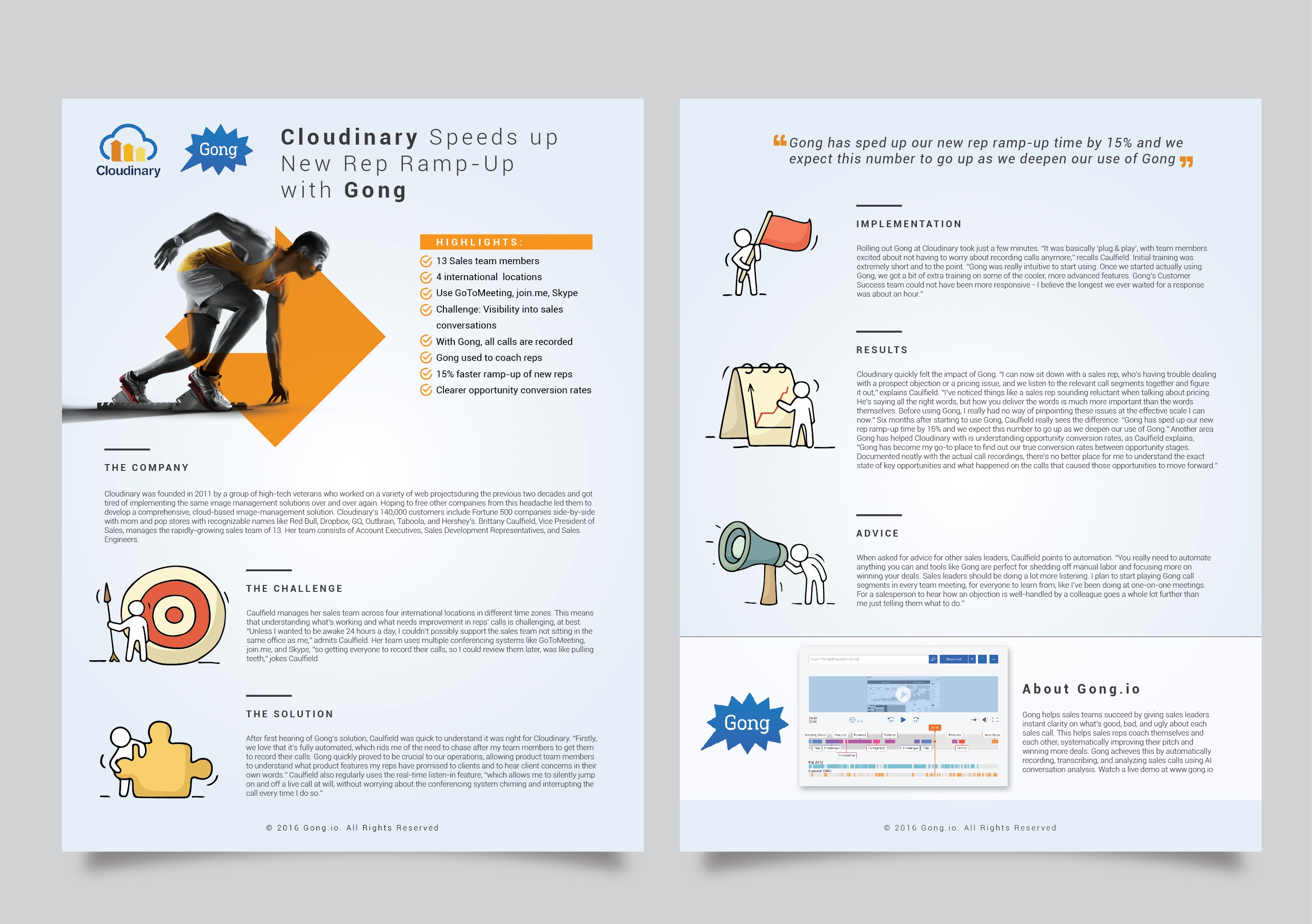 Ultra modern, clean & contemporary 2 page customer case ctudy template for a emerging tech start-up