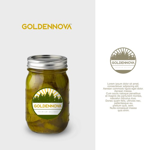 GOLDENNOVA : Logo for Canned Fruits/Vegetable company