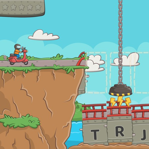 Bridge Repairman game assets and UI design