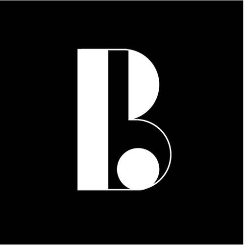 Monogram Negative Space Logo