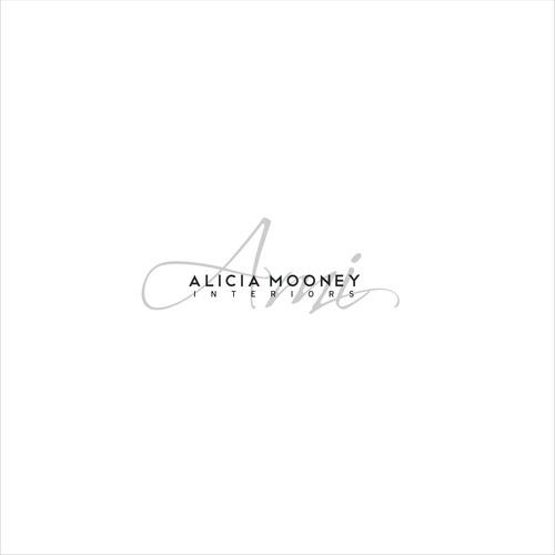 Logotype for Alicia Mooney Interiors