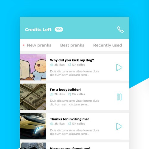 Concept for a prank calling app