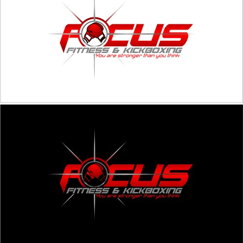 Create a cool modern logo for Focus Fitness & Kickboxing