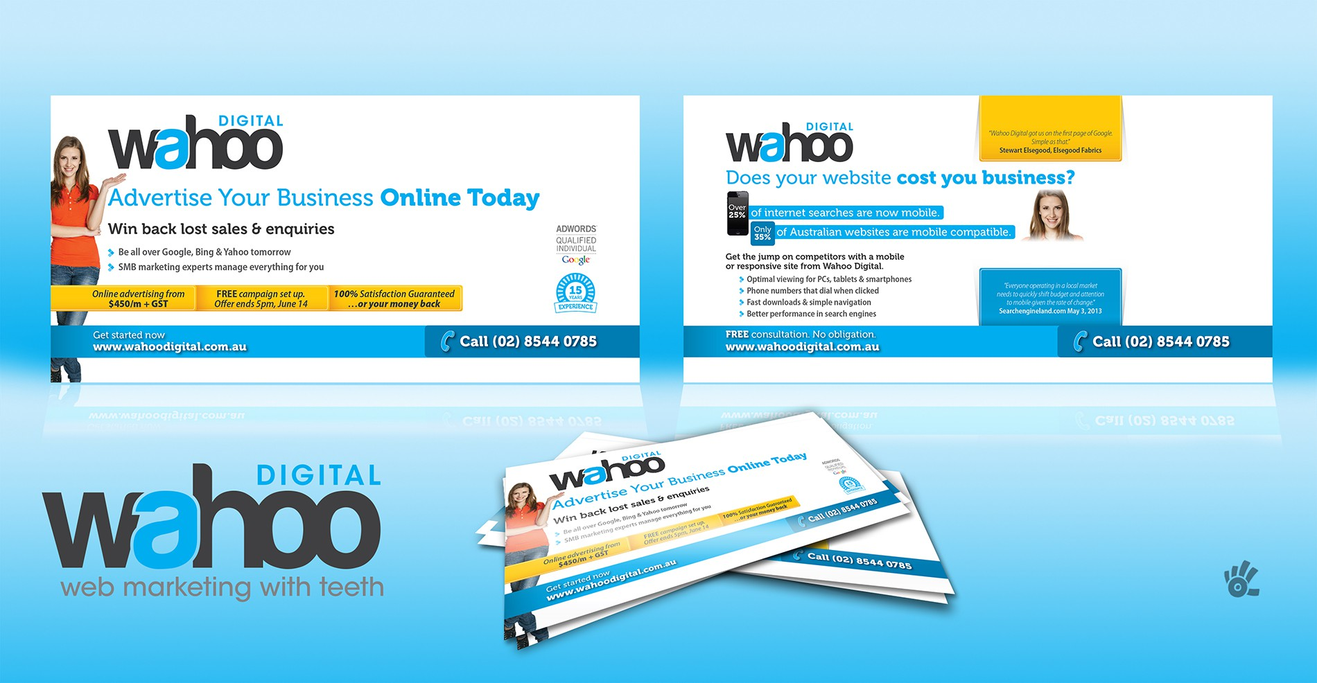 New postcard or flyer wanted for Wahoo Digital