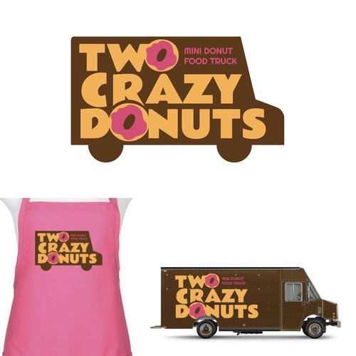 Winning logo concept for mini donut food truck