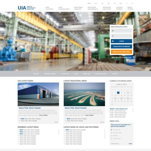 Website design for UIA