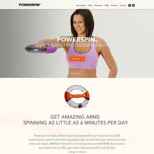 Create an energetic, fresh website template to help sell a unique new unisex fitness product