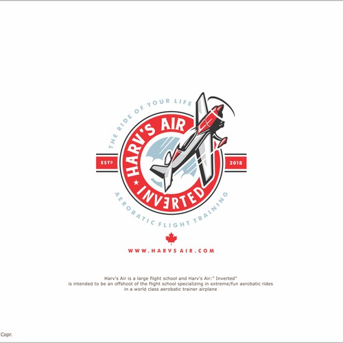 Cool logo for aerobatic flight enterprise