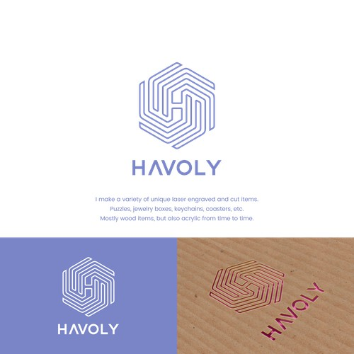 Havoly a professional logo for a laser engraving company