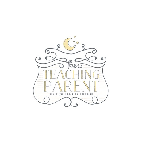 Logo for a childhood sleep and behavior coaching.