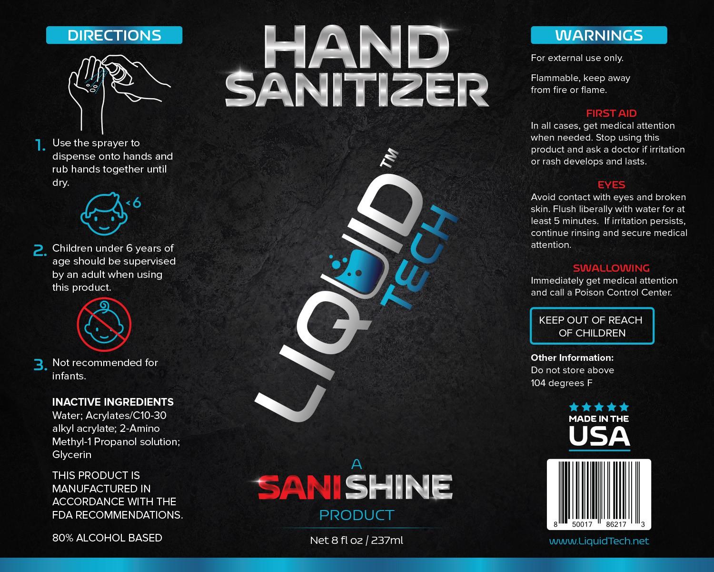 LiquidTech - Hand Sanitizes Labels (4oz & 8oz)