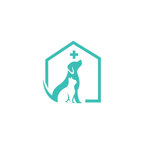 A simple logo for a vet clinic. For example a sketch of a dog in one line. Not more than