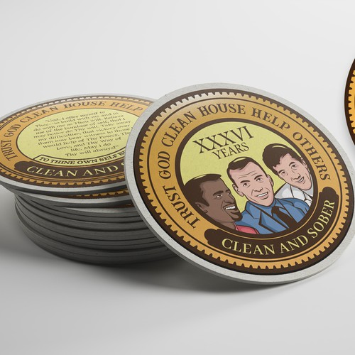 Las Vegas Themed Recovery Coin Designm