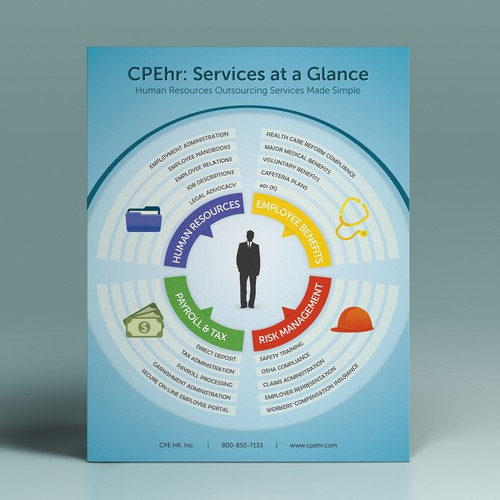 Printed handout about client's services