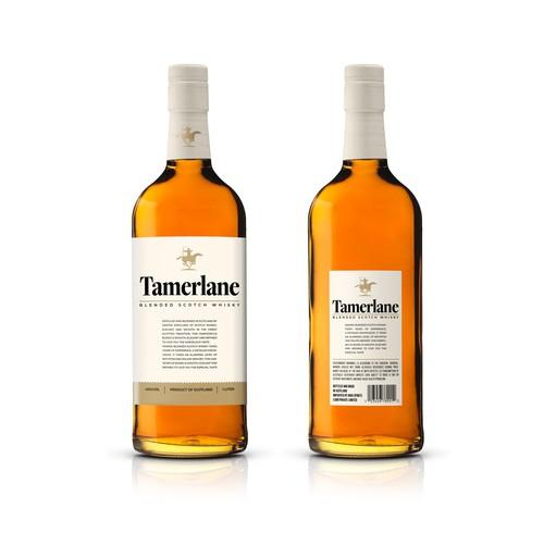 Label design for Tamerlane whisky
