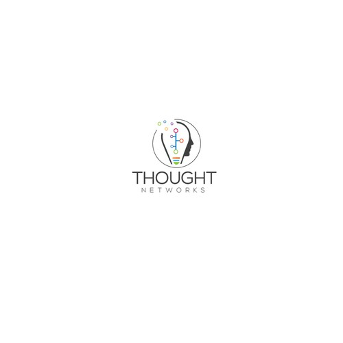 Thought Network (Mind bulb face )