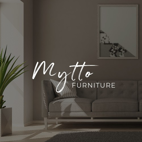 Furniture store logo concept