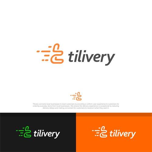 Tilivery deliver logo concept.