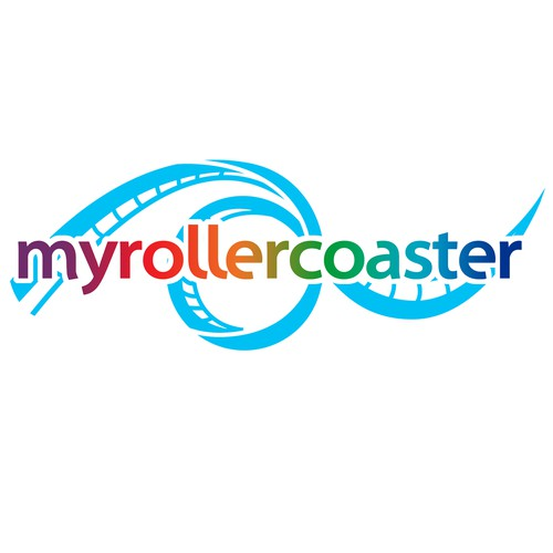 "Jump on ""myrollercoaster"" and design our logo for a worthy website!"